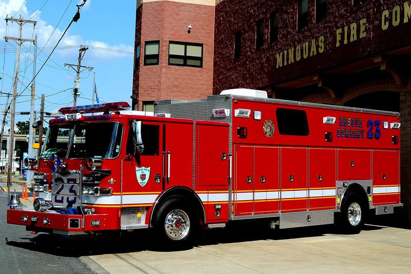 Minquas Fire Co   Rescue  23  2011  Pierce Arrow XT    500/ 200