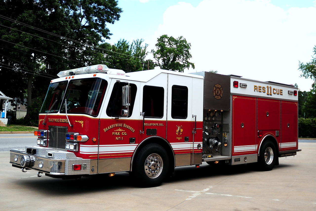 BrandywineHundred Fire Co  Rescue  11   1997  Simpn Duplex /Saulsbury   1250/ 750