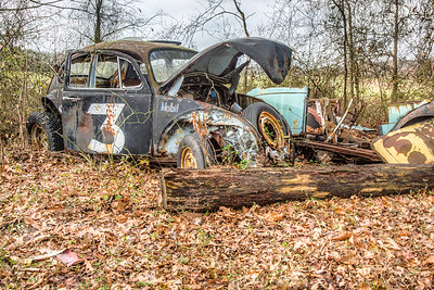 Abandoned VW Bug in Dover Delaware