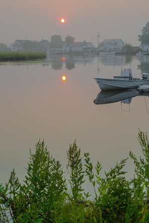 Sunrise over Leipsic River, Leipsic, Delaware, USA