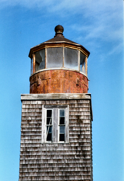The second light was 31 feet tall and displayed a white light from 8 lamps with 14 inch reflectors. In 1855 the lantern was refitted with a 5th Order Fresnel lens exhibiting a fixed white light. Due to shoaling the mouth of the river became shallower over time. In 1857 it was recommended that the light be discontinued since the mouth had a depth of only one foot at low tide. In 1859 the light was darkened and sold to a private individual who moved the structure upriver to Milford.
