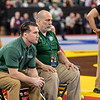Delbarton Coaches Look on at NJSIAA State Wrestling Championships