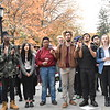 Students at Swarthmore College walked out of class and want Swarthmore College to become a sanctuary for undocumented immigrants. <br /> Photo by Anne Neborak