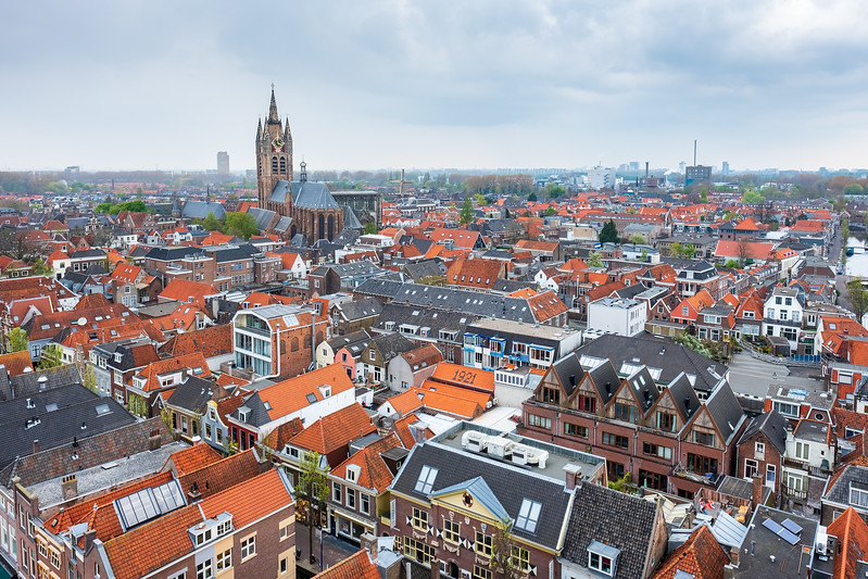 Aerial view of Delft