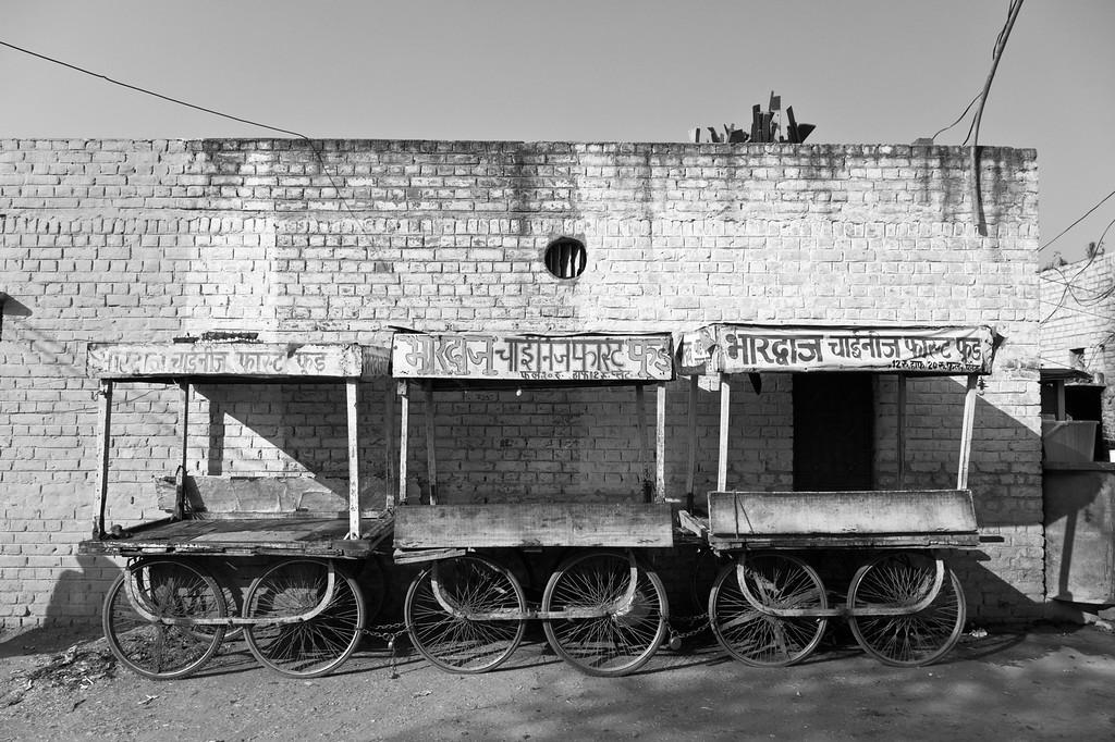 Fast food carts, Mehrauli Village