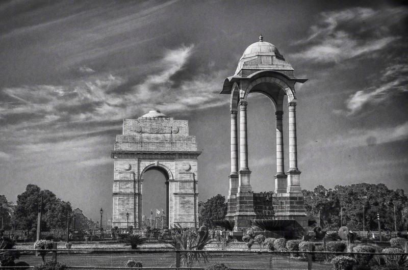 India Gate and canopy