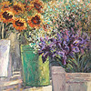 fl-28 Green Vase with Sunflowers