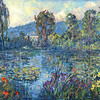fr-52 monet  peep a boo of monet house from his water lilies
