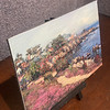 Mini prints on canvas mounted on dibond board