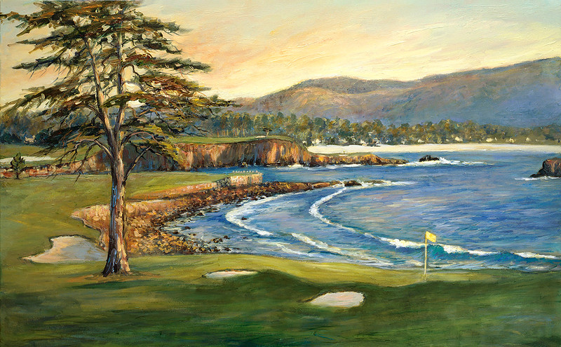 pb-1 18th at Pebble Beach