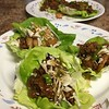 Thai Turkey Lettuce Wraps  with water chestnuts and sesame dipping sauce