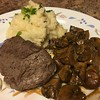Steak Marsala with Parmesan Mash with sauteed cremini mushrooms