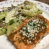Chili Lime Steelhead Trout w/ Roasted Chayotes, Red Onions and Mojo de Ajo