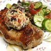 Pork Chop Santorini with Sweety Drop-Kalamata Butter
