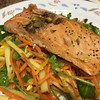 Cedar Roasted Salmon with root vegetable slaw