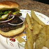"Memorial Day Special: ""Juicy Lucy"" Stuffed Beef Burger With American cheese and seasoned salt fries"