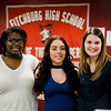 Fitchburg High School seniors Shellaina Gordon, Samary Cruz and Jillian Wolons recently won a Dell scholarship, $20,000 over the course of four years, pictured here at FHS on Tuesday, April 11, 2017. Not pictured but also winnning the scholarship is Shekhinah Al-Aziz. SENTINEL & ENTERPRISE / Ashley Green