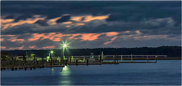 Pre-dawn, Chincoteague marina