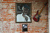 "Memorial tribute to ""The Music Maker"" <br /> Foster ""Mr Tater"" Wiley<br /> Cat Head store, Clarksdale MS"