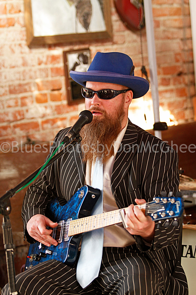 "Sean ""Bad"" Apple<br /> All Night Long Blues Band<br /> Cat Head Mini Blues Fest<br /> Clarksdale MS 2012"