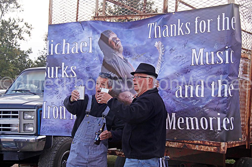 Michael Burks fans remembering him<br /> Memorial for Michael Burks - behind Hopson Plantation<br /> Clarksdale MS