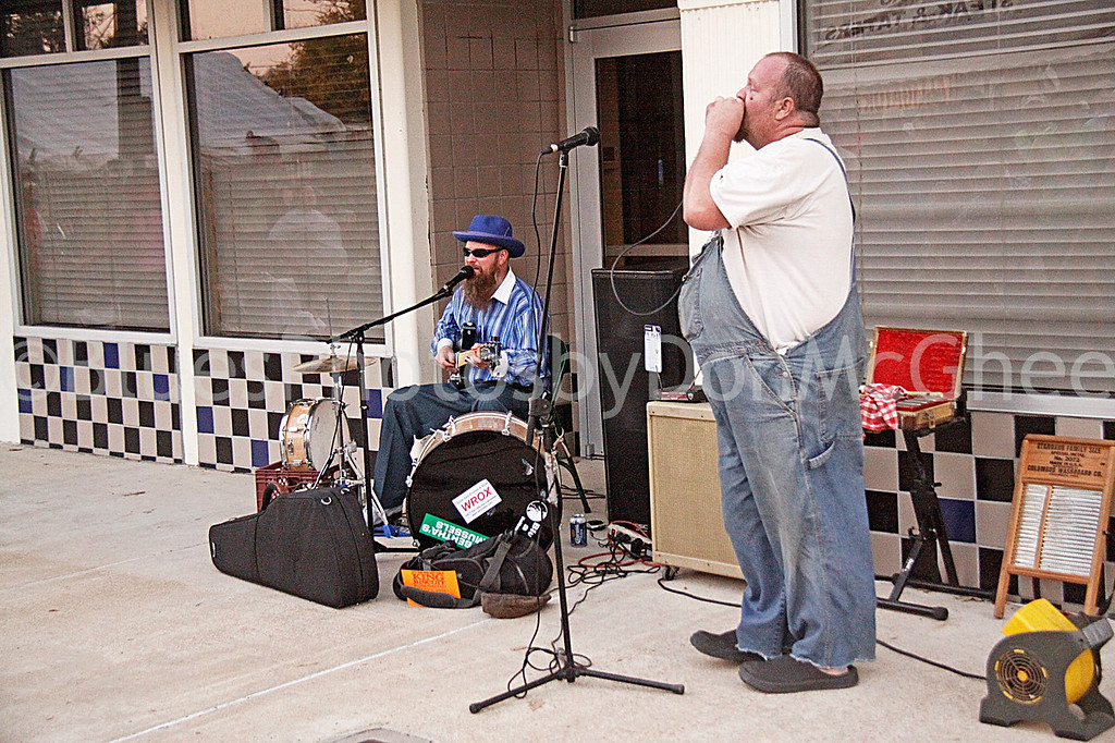 "Sean ""Bad"" Apple, Martin ""Big Boy"" Grant<br /> All Night Long Blues Band<br /> King Biscuit Blues Festival 2012"