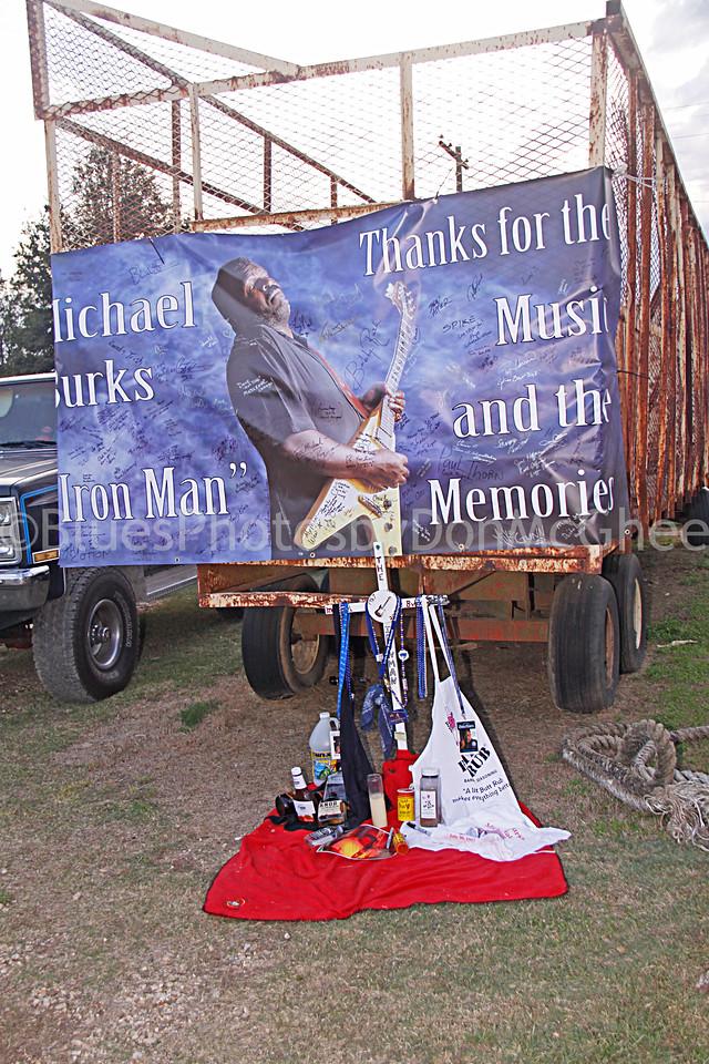 Memorial for Michael Burks - behind Hopson Plantation<br /> Clarksdale MS