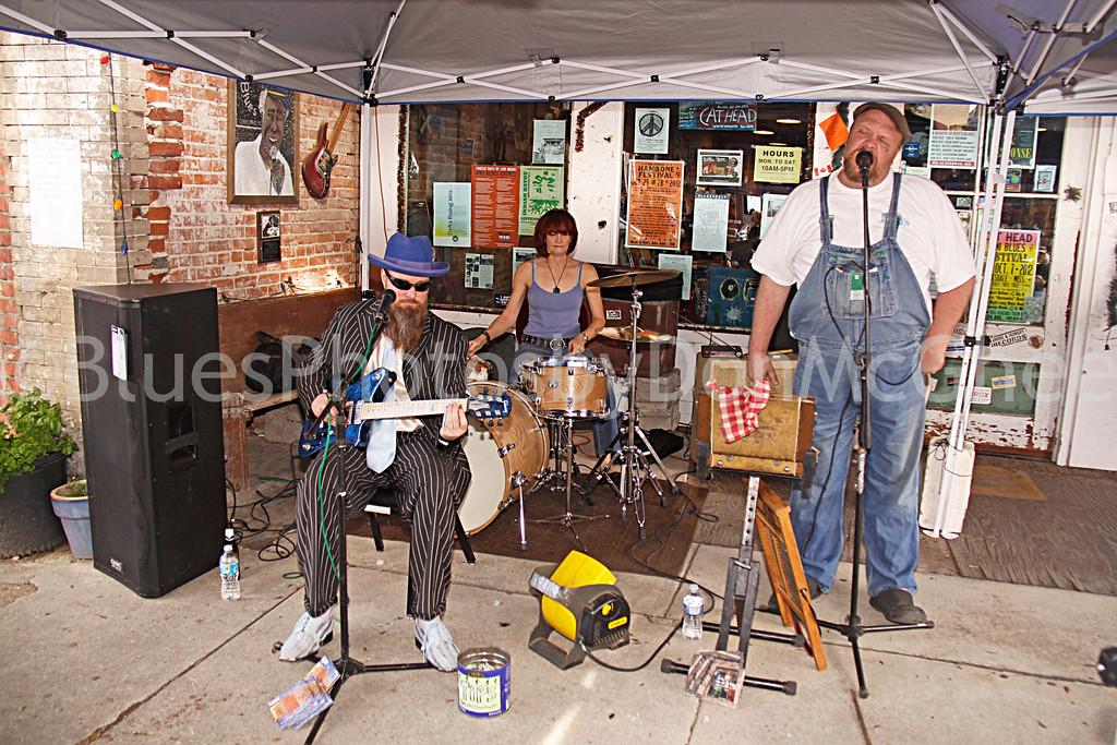 "Sean ""Bad"" Apple, Dixie Street, Martin ""Big Boy"" Grant<br /> All Night Long Blues Band<br /> Cathead Mini Blues Fest<br /> Clarksdale MS 2012"