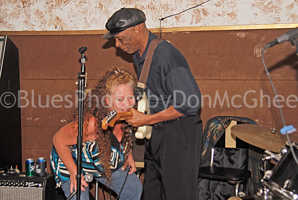 Selwyn Cooper and assistant<br /> DJ Hype's Rhythm & Blues Lounge<br /> Clarksdale MS 2012
