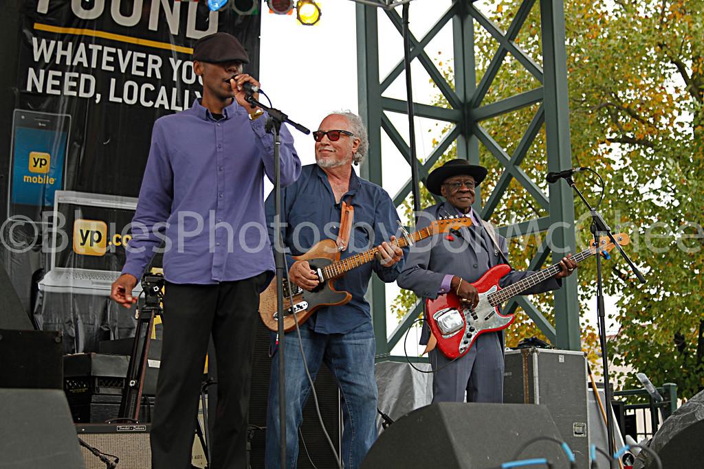 """Kenny """"Beedy Eyes"""" Smith,  """"Steady Rollin"""" Bob Margolin, Bob Stroger<br /> King Biscuit Blues Fest 2014 Helena AR"""