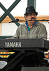 """keyboard player """"Kenny -Beedy Eyes"""" Smith band<br /> King Biscuit Blues Fest 2014 Helena AR"""