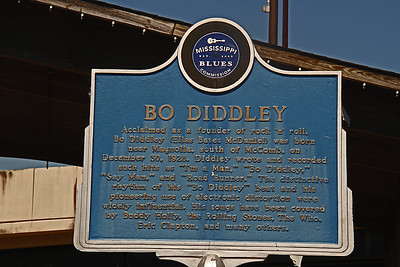 Bo Diddley Mississippi Blues Trail Marker #23 McComb MS