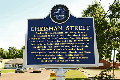 Chrisman Street Mississippi Blues Trail Marker #78 Cleveland MS