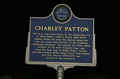 Charley Patton Mississippi Blues Trail marker - Holly Ridge MS