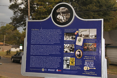 Club Ebony Mississippi Blues Trail Marker #84 [back] Indianola MS