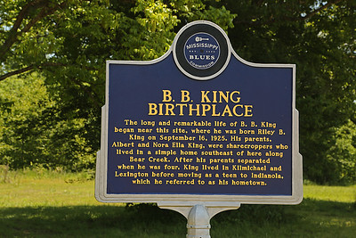 B B King Birthplace Mississippi Blues Trail Marker #48 Berclair MS