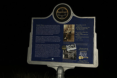 Charley Patton's Grave  Mississippi Blues Trail Marker #1 Holly Ridge MS