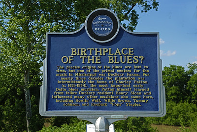 Birthplace of the Blues Mississippi Blues Trail Marker #37 (Dockery Plantation) Cleveland MS