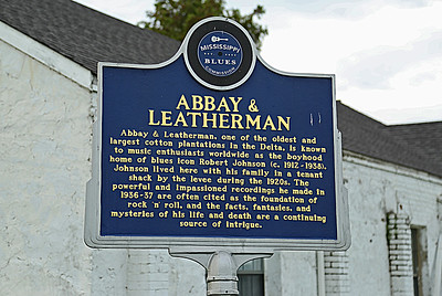 Abbay & Leatherman Mississippi Blues Trail Marker #75 Robinsonville MS