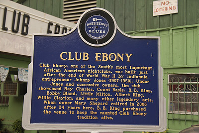 Club Ebony Mississippi Blues Trail Marker #84 Indianola MS