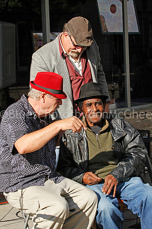 "Theo Dasbach, David Summers, James Lewis Carter ""T Model"" Ford Rock & Blues Museum (front) Clarksdale MS 2012"