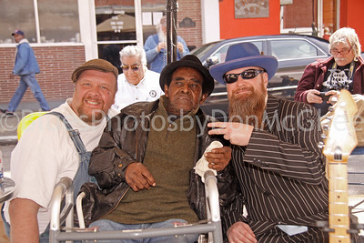 "Martin ""Big Boy"" Grant, James Lewis Carter ""T Model"" Ford, Sean ""Bad"" Apple Rock & Blues Museum (outside) Clarksdale MS 2012"