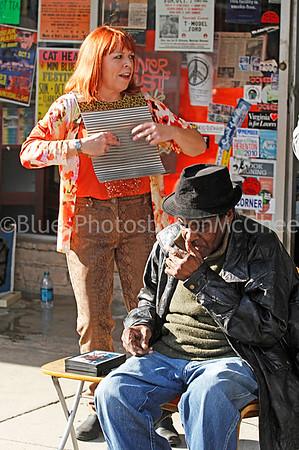 "Liz Mandeville, James Lewis Carter ""T Model Ford"" Rock & Blues Museum (front) Clarksdale MS 2012"