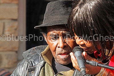 """James Lewis Carter """"T Model"""" Ford & wife outside Rock & Blues Museum Clarksdale MS 2012"""