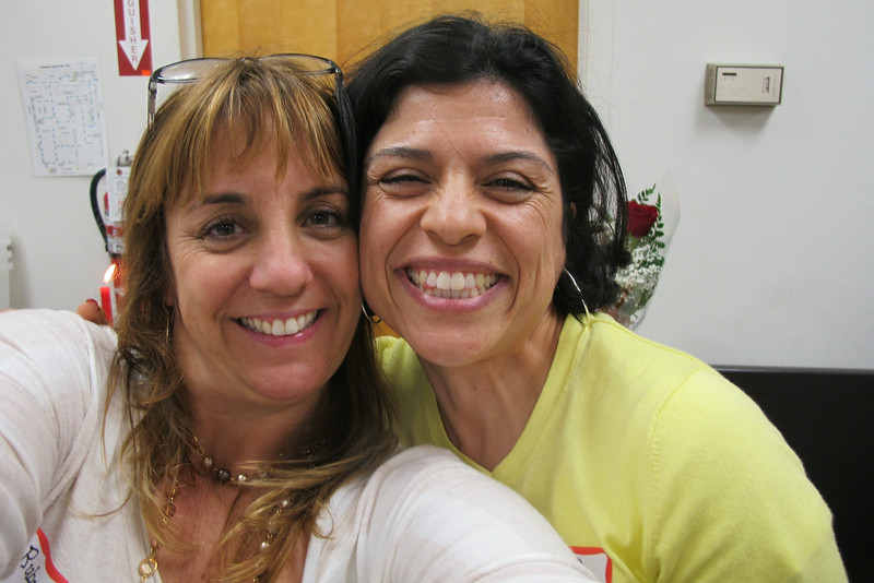 Kimberly Goforth and Dora Jacildo