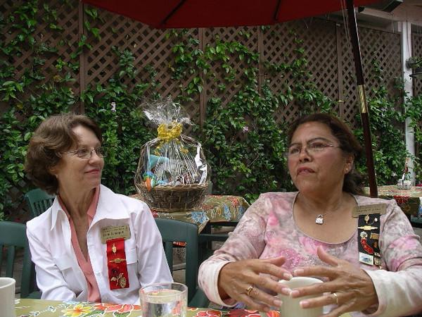 Irene Lonergan and Angela Loya