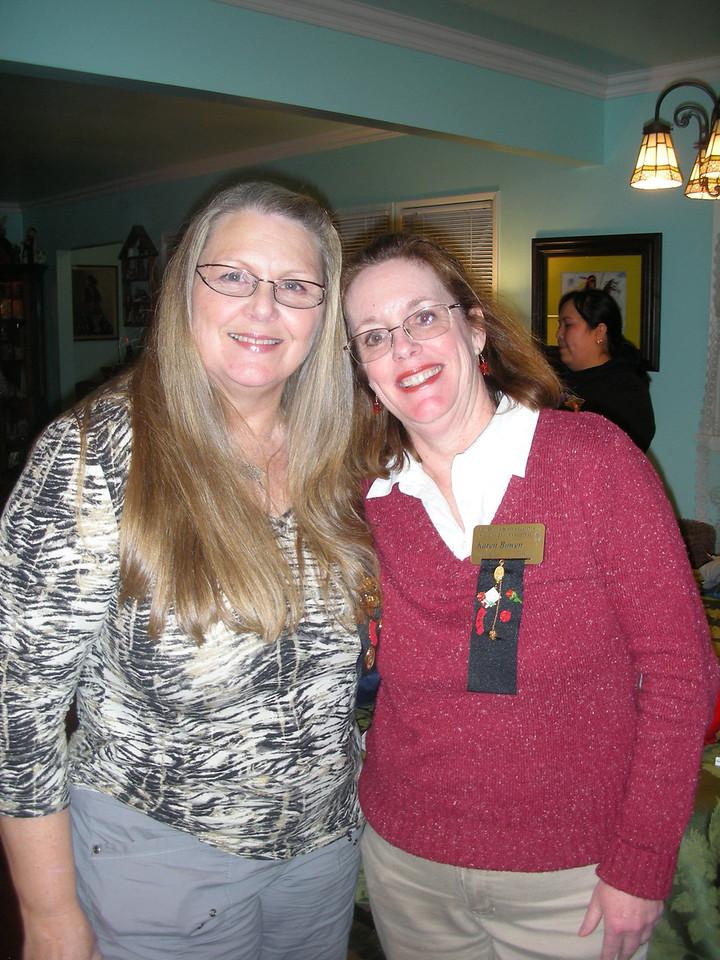 Linda Norman, co-president and Karen Bowen, treasurer at Angela Loya's home; December 2010.