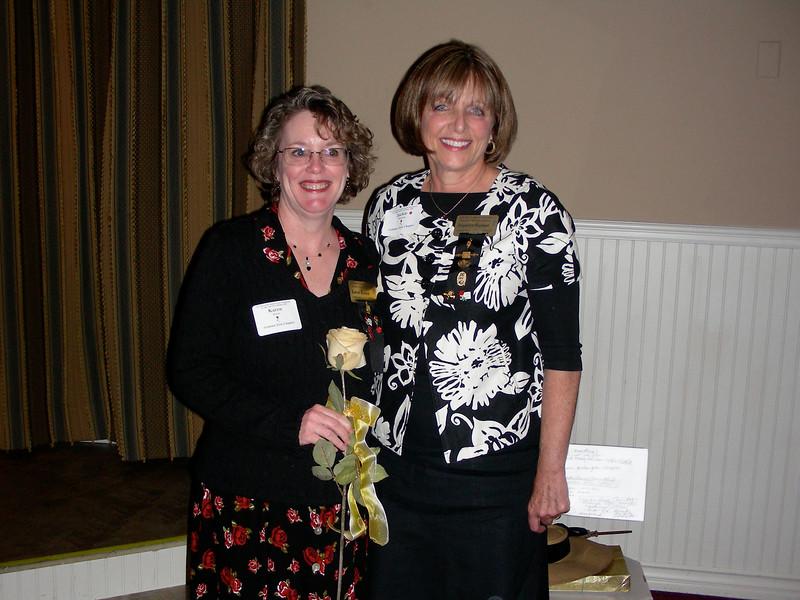 Recipient, Karen Bowen and President, Jackie Wayman
