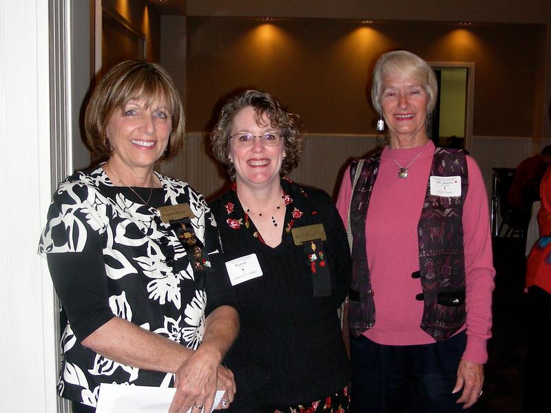 President Jackie Wayman and Karen Bowen,  Golden Rose Recipient