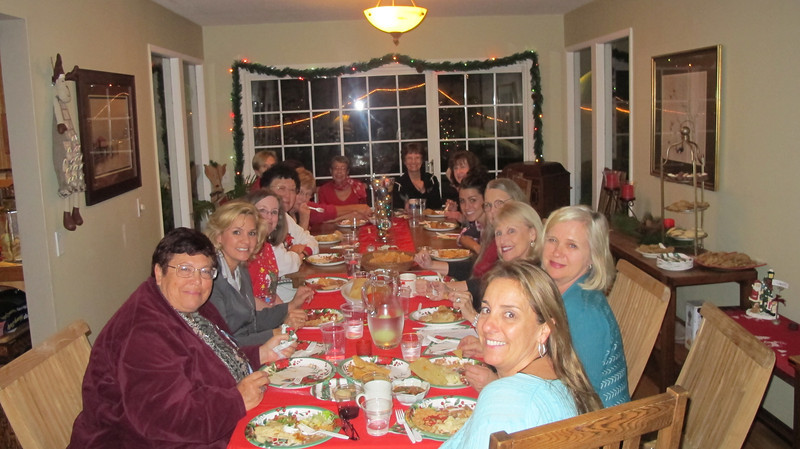 Holiday celebration and wrapping party at the home of Jackie Wayman.